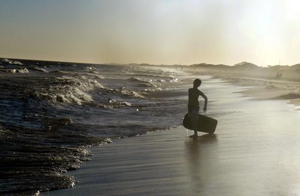 Fin de un día de playa
