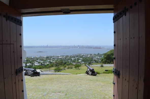 vista desde dentro de la fortaleza