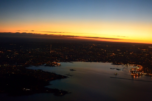 Vista áerea de Montevideo