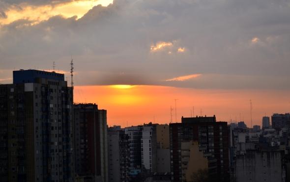 amanecer sobre Buenos Aires