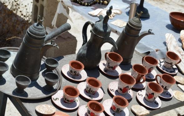 Típicas jarras para servir su aromático café