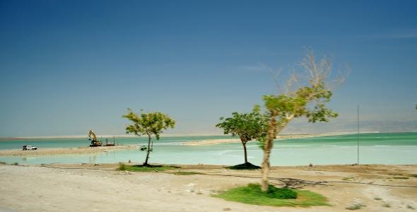 Hermosa vista del Mar Muerto