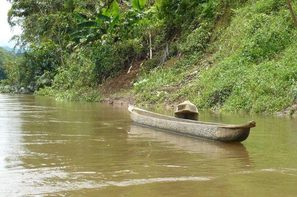 Río Cayapas en Ecuador