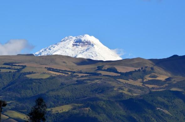 Vista del Cotopaxi, en Quito, Ecuador