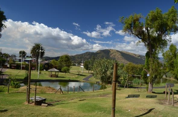 Vista de una de las lagunas del parque