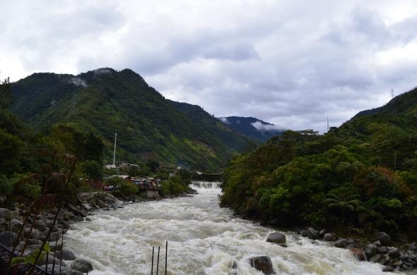 Vista de los rápidos del Río Verde.